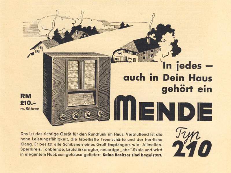 Auch in Dein Haus gehört ein Radio 210