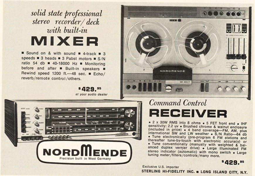 Command Control Receiver and Solid-State Professional Stereo Recorder
