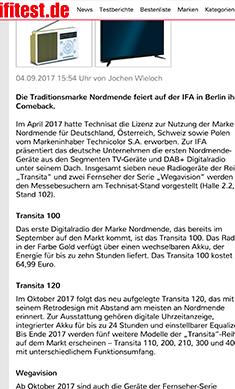 IFA 2017: Nordmende ist wieder da mit Digitalradios und Fernseher