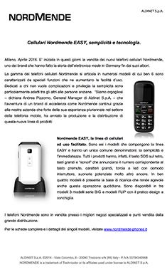 Cellulari Nordmende EASY, semplicità e tecnologia.