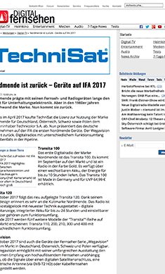 Nordmende ist zurück – Geräte auf IFA 2017