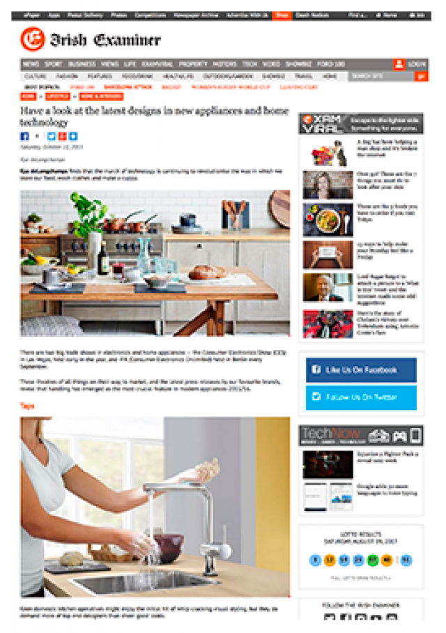 Have a look at the latest designs in new appliances and home technology